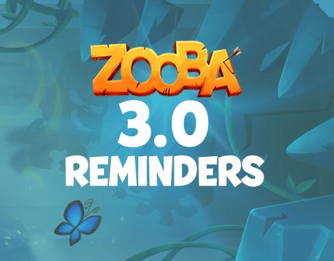 Update 3.0 Reminders!